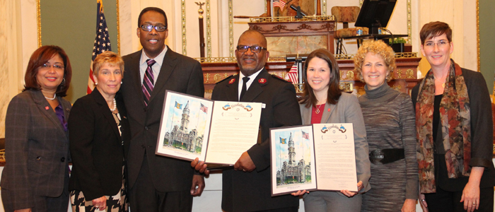 Salvaion Army and Walmart receive Philadelphia City Council Resolution