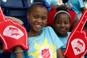 Salvation Army Day with the Phillies 2013